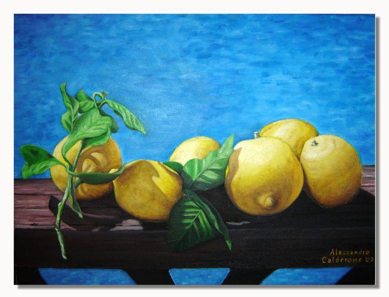Limoni Disegno: Opera D'arte Di Alessandro Calderone