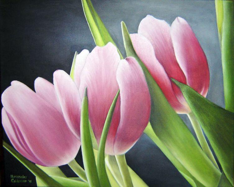 Tulipani - Opera d\'arte di Alessandro Calderone