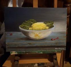 limone su tela