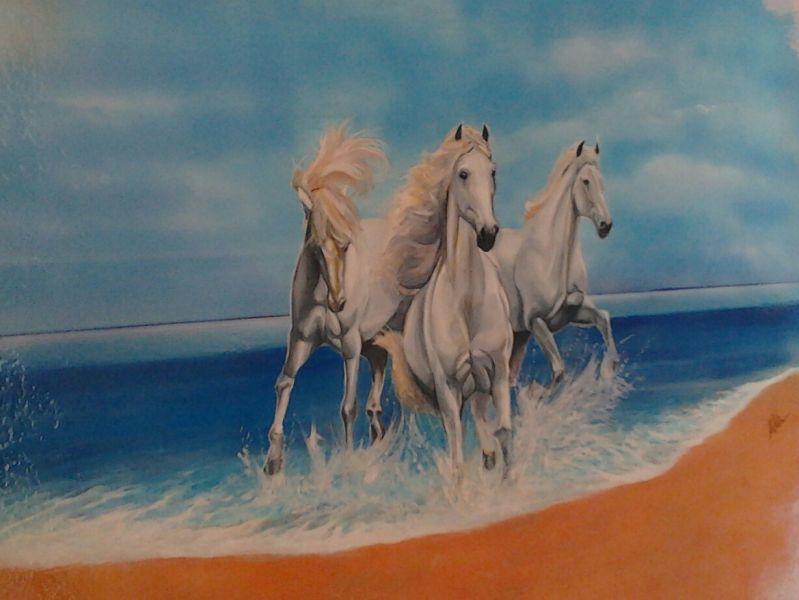 Amato Cavalli bianchi - Opera d'arte di Andrea Deidda RX21