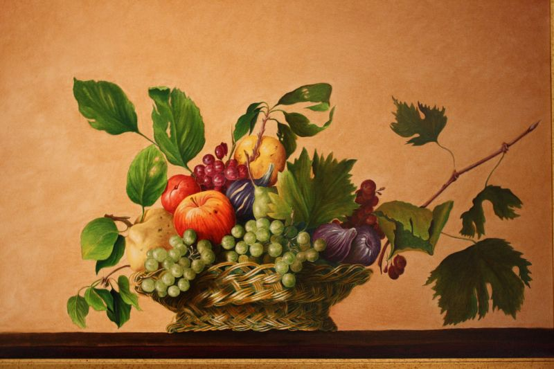Cesto Di Frutta Copia D Autore Opera D Arte Di Angelo Latini