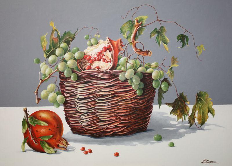 Cesto Di Frutta Opera D Arte Di Angelo Latini