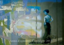 ON HER WAY, 2012, oil canvas