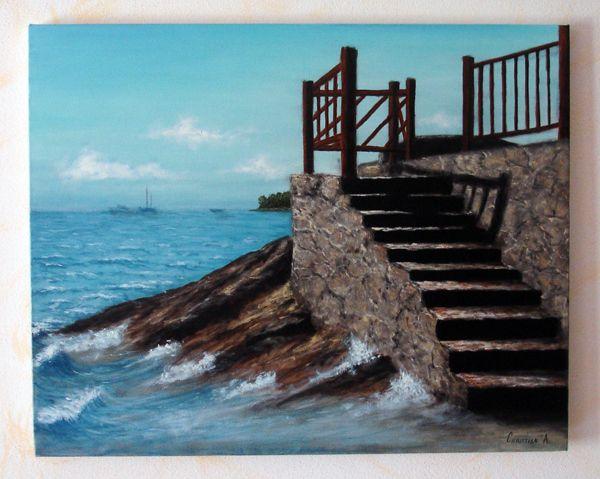 Paesaggio marino opera d 39 arte di anstyle for Disegno paesaggio marino