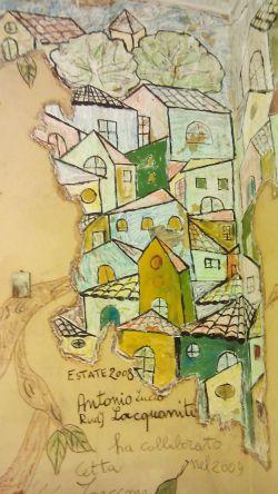 Dipinto su pareti di casa-stanza - Opera darte di Antonio Lacquaniti
