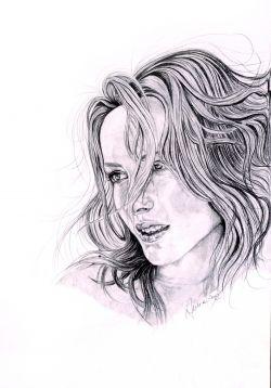ragazza coi capelli al vento - Opera d'arte di Aurore