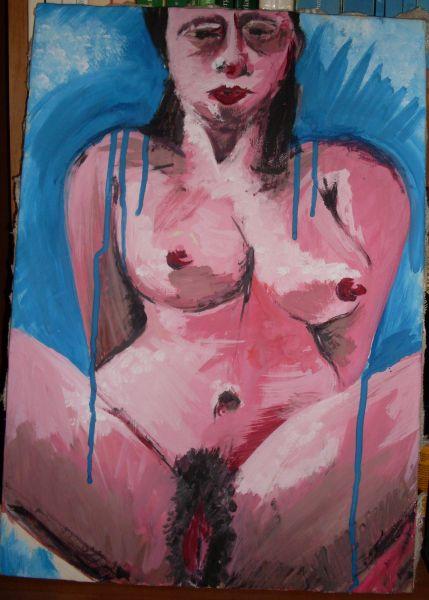 nudo di donna - Opera d\'arte di Blanco
