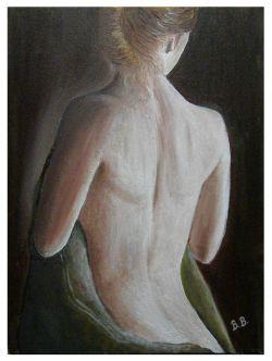 Donna Nuda Di Spalle Opera Darte Di Boglarka Ban