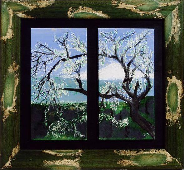Finestra sull 39 inverno opera d 39 arte di bora - Quadri con finestre ...
