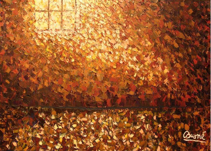 Le foglie d autunno alessandro tognin pittore