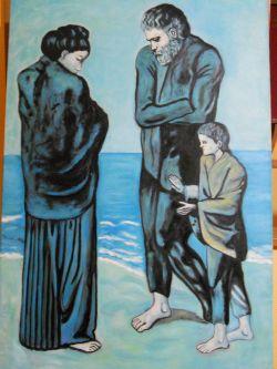 Poveri In Riva Al Mare Opera D Arte Di Cardellarte