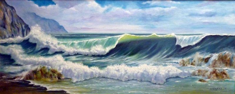 Estremamente La forza del mare - Opera d'arte di Carmelo Valastro VH54