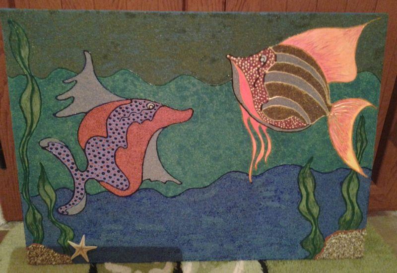 Favoloso dipinto su tela con acrilici - Opera d'arte di Conce YM03