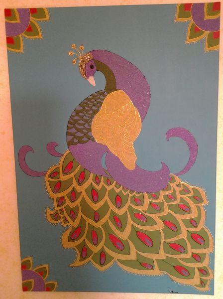 Estremamente dipinto su tela con acrilici e materiali vari - Opera d'arte di Conce TB91