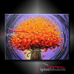 Quadro moderno con bouquet di fiori arancioni - Opera d\'arte di ...