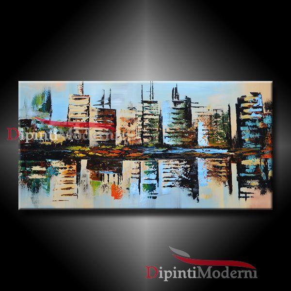 079b0adb43 quadro dipinto design città di new york - Opera d'arte di ...