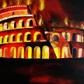 coloseo in fiamme