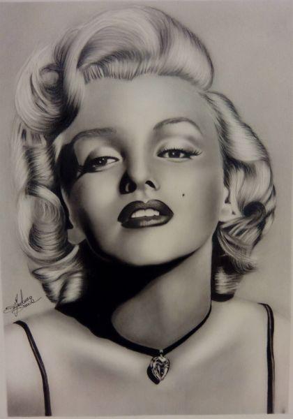 Ritratto Marilyn Monroe ( Davide Di Girolamo ) - Opera d\'arte di ...