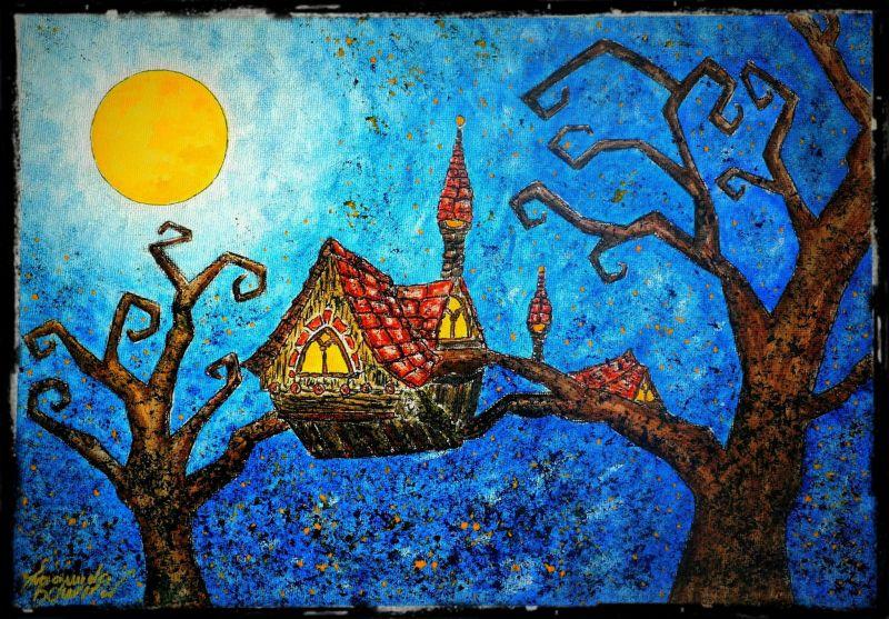 Casa sugli alberi opera d 39 arte di emanuela boursier - Casa sugli alberi ...