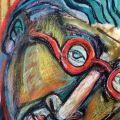 studio di testa (con occhiali rossi)