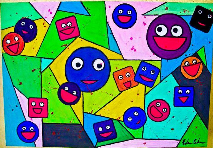 Amato Il felice disegno della vita - Opera d'arte di Federica Colarossi UX75
