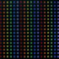 Rainbow under black grid