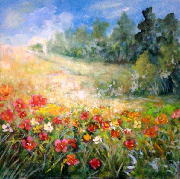 Prato in fiore opera d 39 arte di franco 39 s for Immagini di fiori dipinti