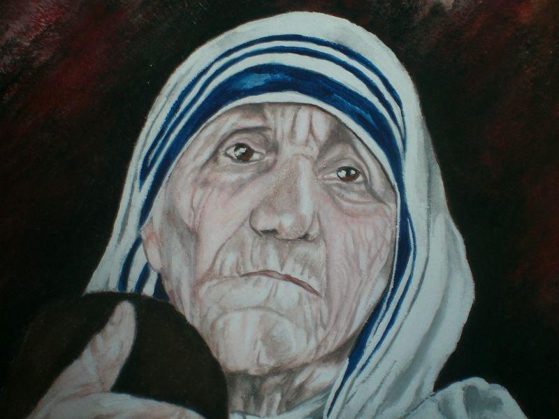 Super Madre Teresa di Calcutta - Opera d'arte di G.marino GY07