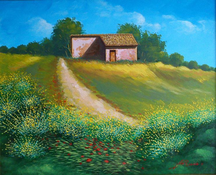 Paesaggio di primavera - Opera d\'arte di Gianfranco Pisano