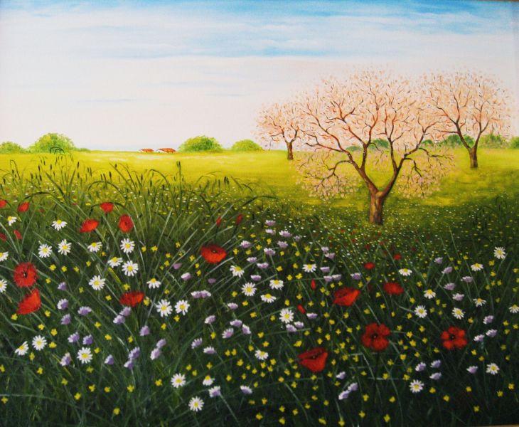Top Paesaggio di primavera - Opera d'arte di Gianfranco Pisano PF04