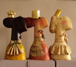 3 Kings, ceramic sculpture