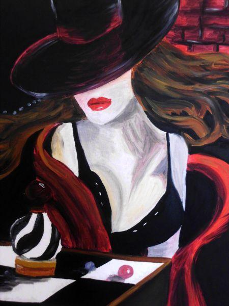 Donna col cappello - Opera d arte di Kira 7596c2384d9b
