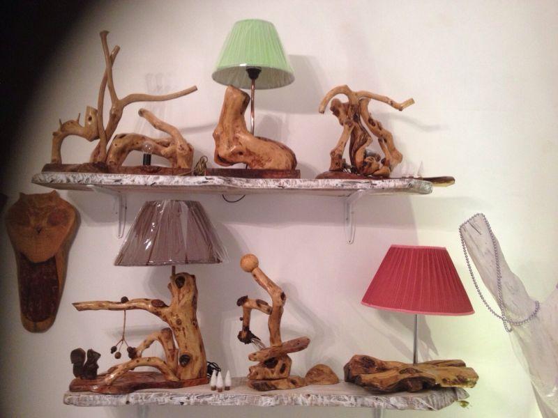 Lampade In Legno Di Mare : Lampade in legno di ulivo opera d arte di l arte nel cuore