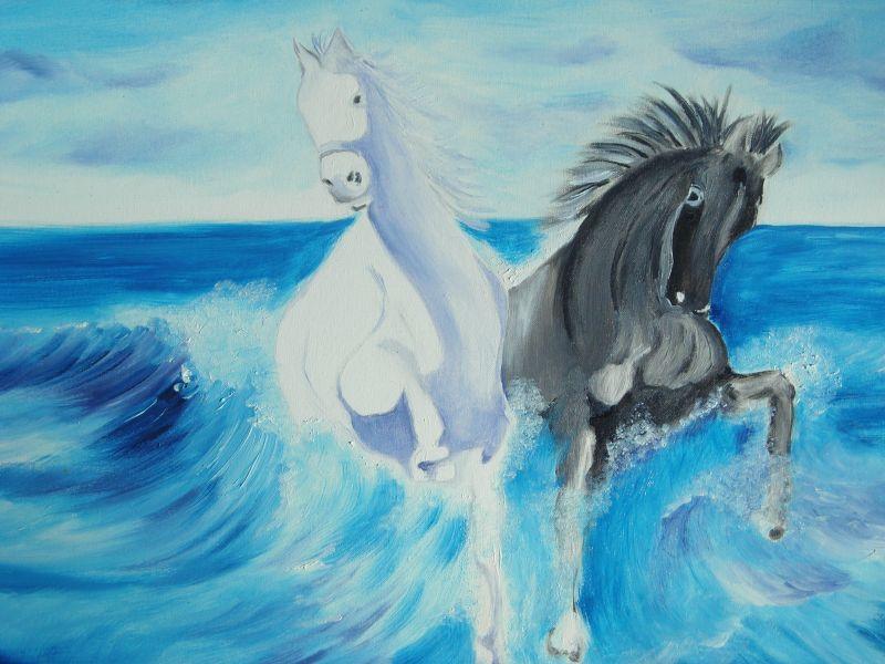 Onde di cavalli - Opera d\'arte di La Forza Del Colore