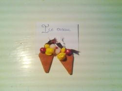 FIMO - earings Ice Cream