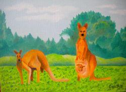 LG 0352 - La famiglia dei Canguri rossi