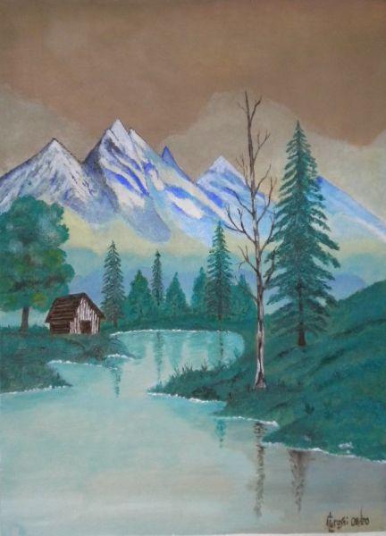 """di dipinto originale Anatre nel 10/"""" x 8/"""" Mount Acquerello di stampa Oche"""