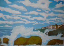 Lg 0386 - Mare tempestoso a Polignano mare