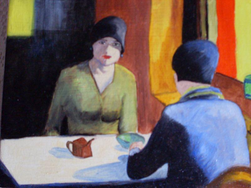 Donna al Bagno da Botero - Opera d\'arte di Luigi Romanelli