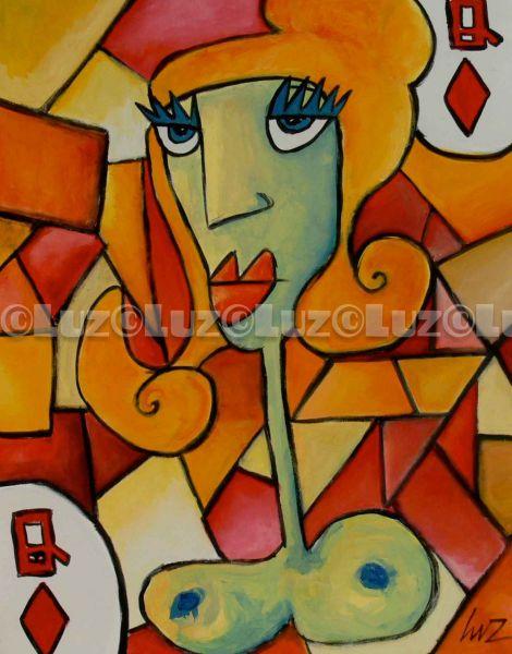 regina di quadri - Opera darte di Luz