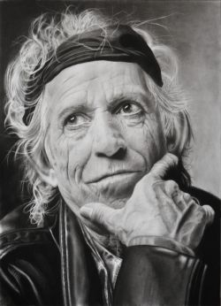 Ritratto di Keith Richards
