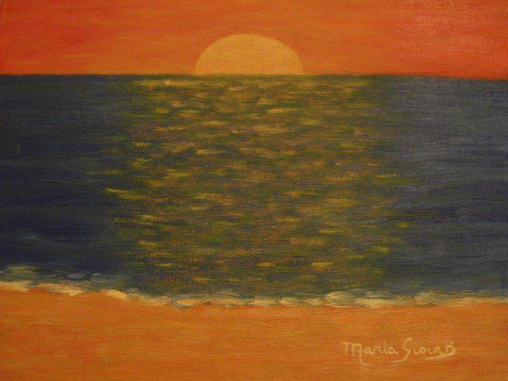 Paesaggio marino opera d 39 arte di maria g benacquista for Disegno paesaggio marino per bambini