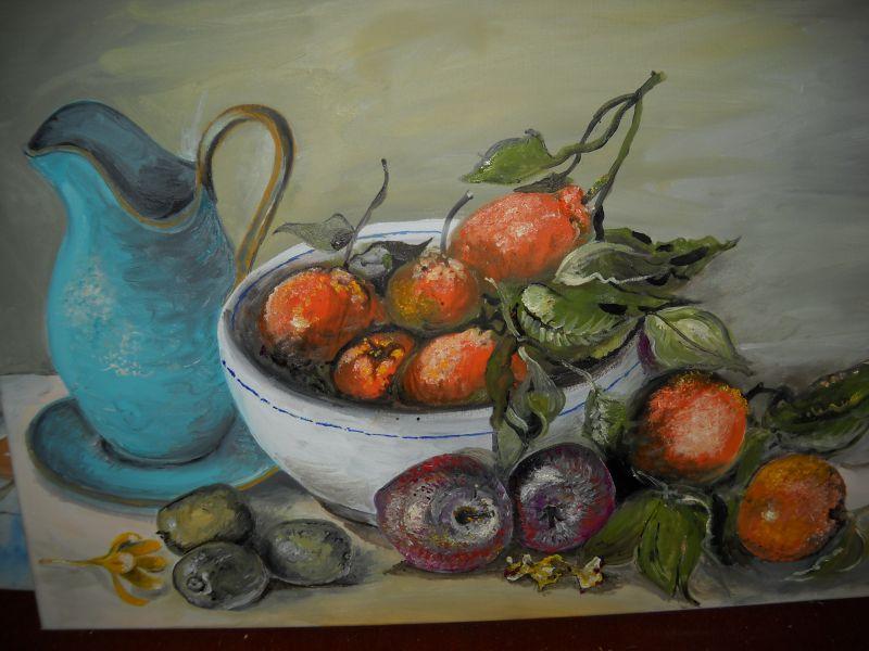 Cesto Di Frutta Invernale Opera D Arte Di Marisa Barduca