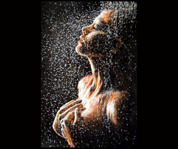 Figura bagnata - Opera d\'arte di Mauro Zani