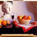 Nr 121 - Natura morta, frutti, testa di Atena