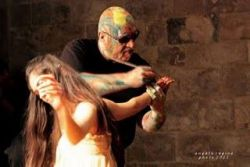 "body painting "" i colori danzanti del sacro"""