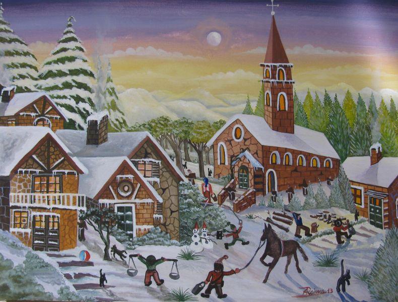Stampe artistiche quadri e poster con astratto blu inverno