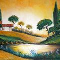 tramonto in campagna