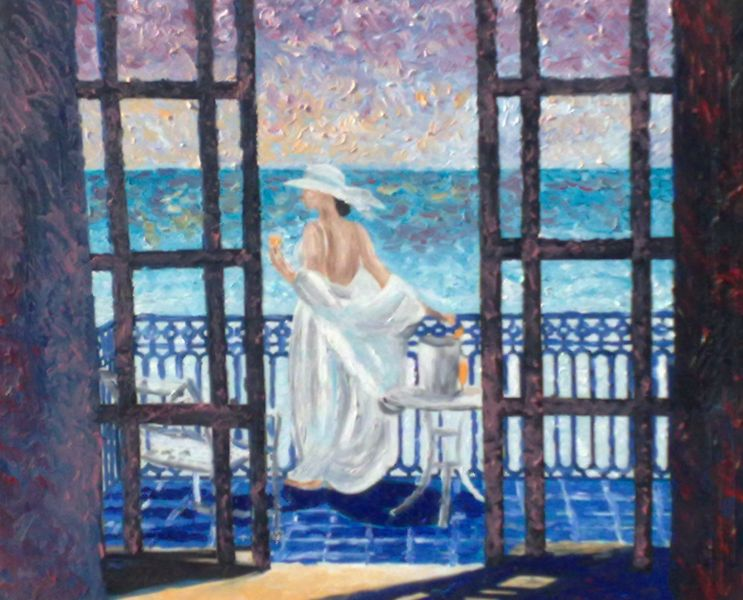 Notturno di Taormina da Letojanni - Opera d\'arte di Ombretta