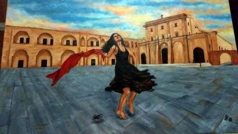 Ballerina Di Pizzica Disegno : Pizzica salentina opera d arte di pennabea rosalba
